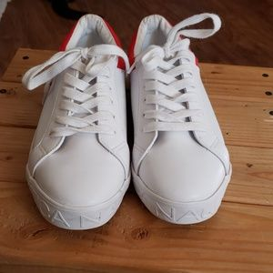 Nautica White Red Blue Sneakers Shoes
